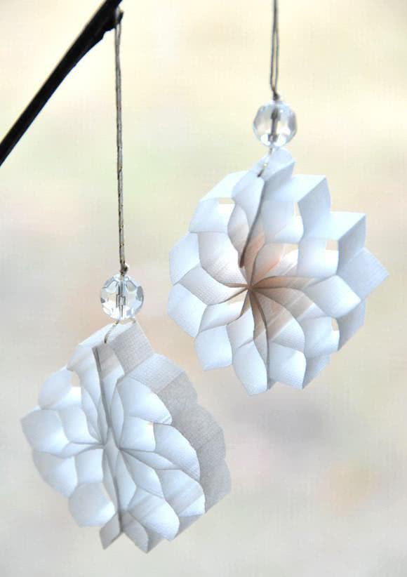 Flocos de neve para pendurar com brilhante