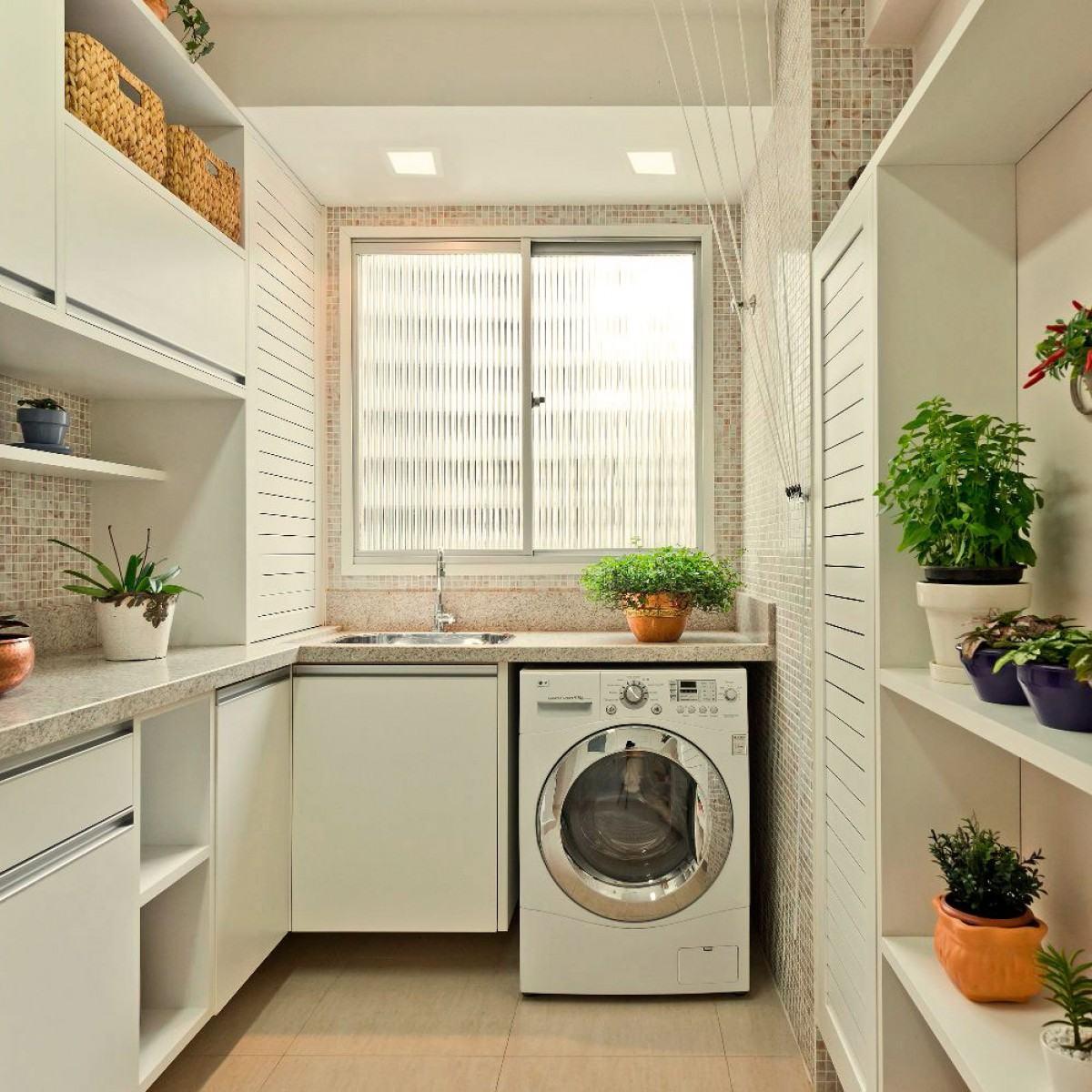 Lavanderia pequena 60 dicas e inspira es para organizar for Cocinas pequenas con lavanderia