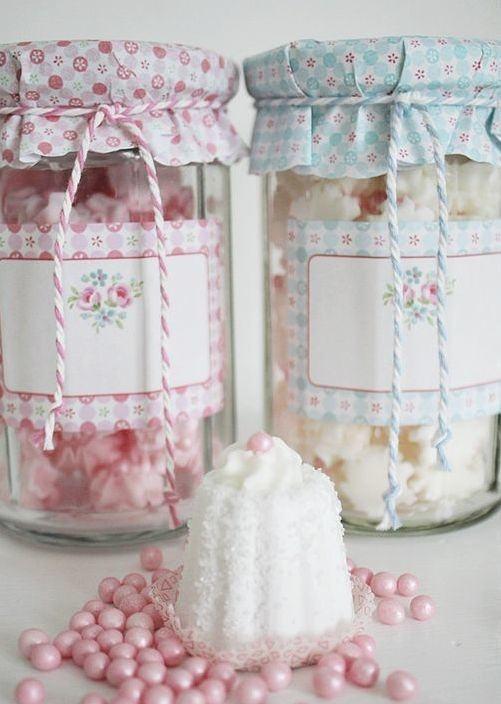 Tampa de tecido estampada para potes de vidro