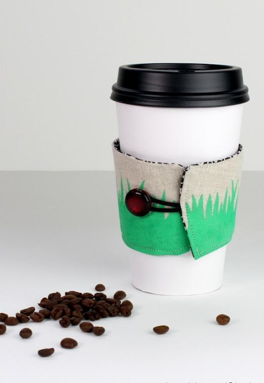 Suporte para copo de café de tecido