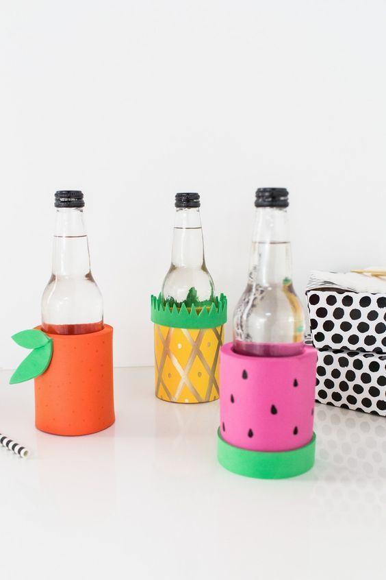 Embalagem para garrafas feitas com EVA