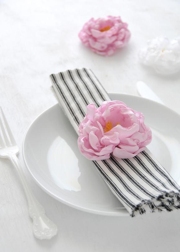 Guardanapo com flor