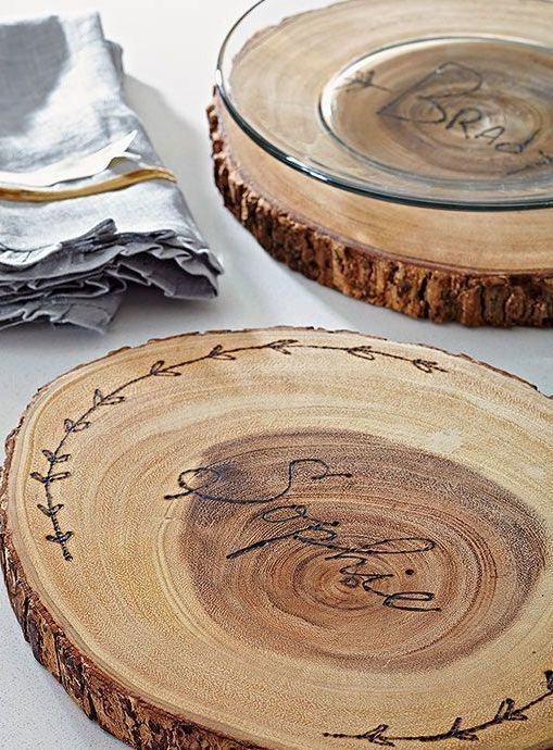 Bandeja para apoiar objetos em madeira