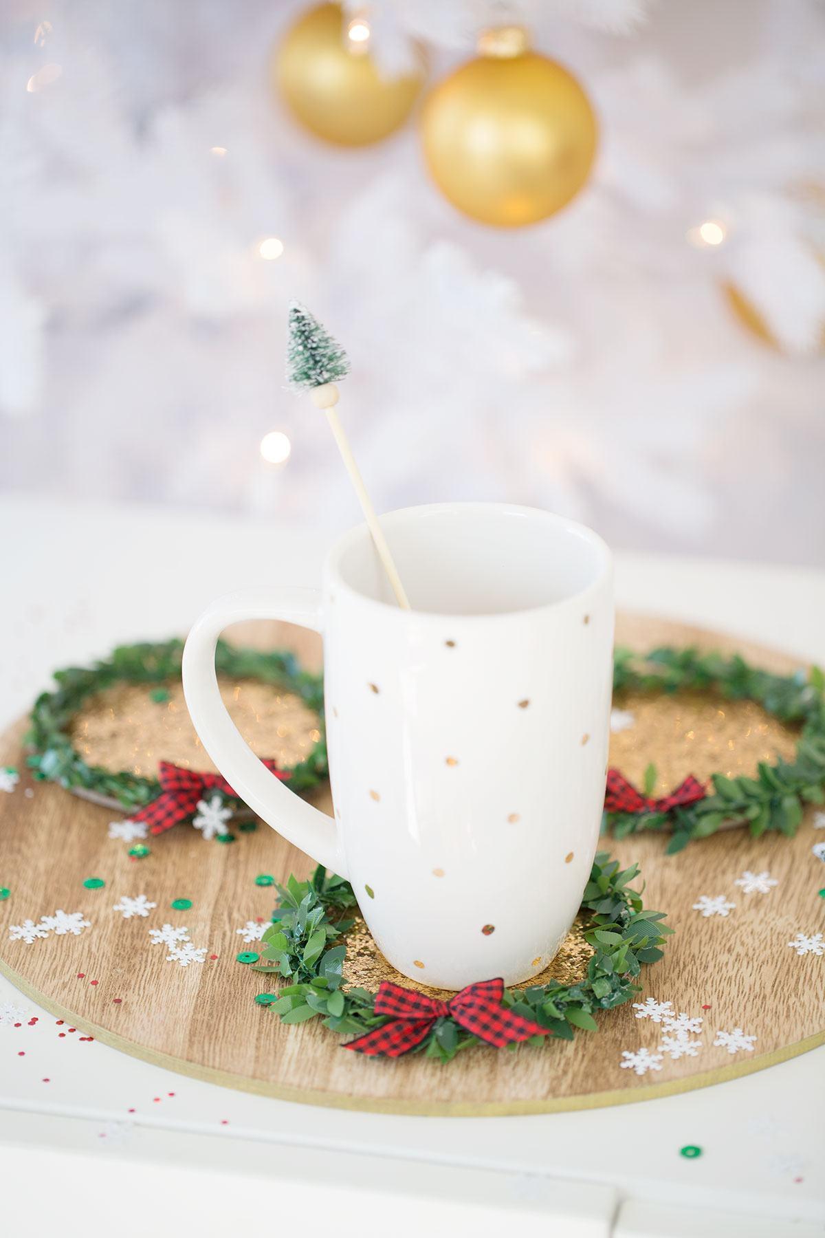Colher com um toque de decoração natalina
