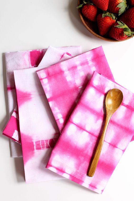Pintura em tecido dos guardanapos