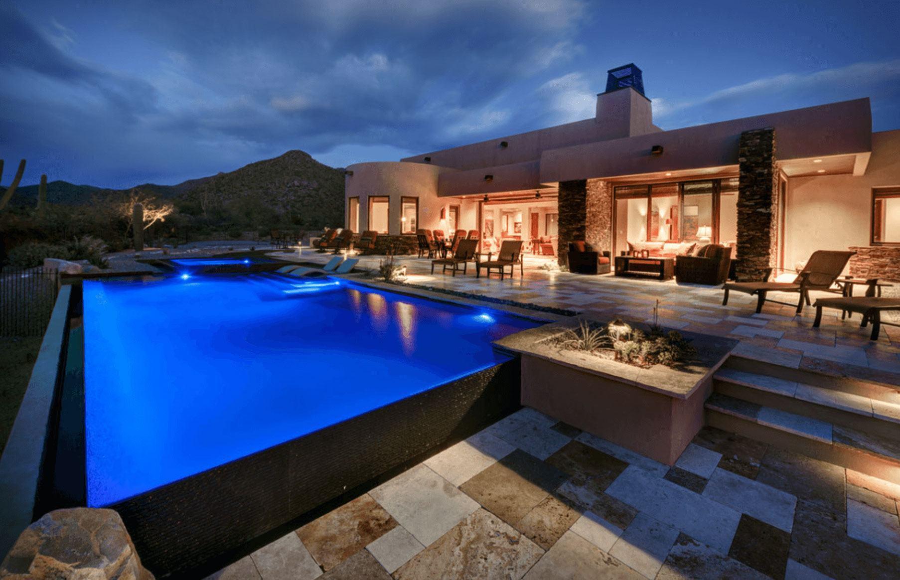 Casas com piscinas 60 modelos projetos e fotos for Imagenes de casas con piscina modernas