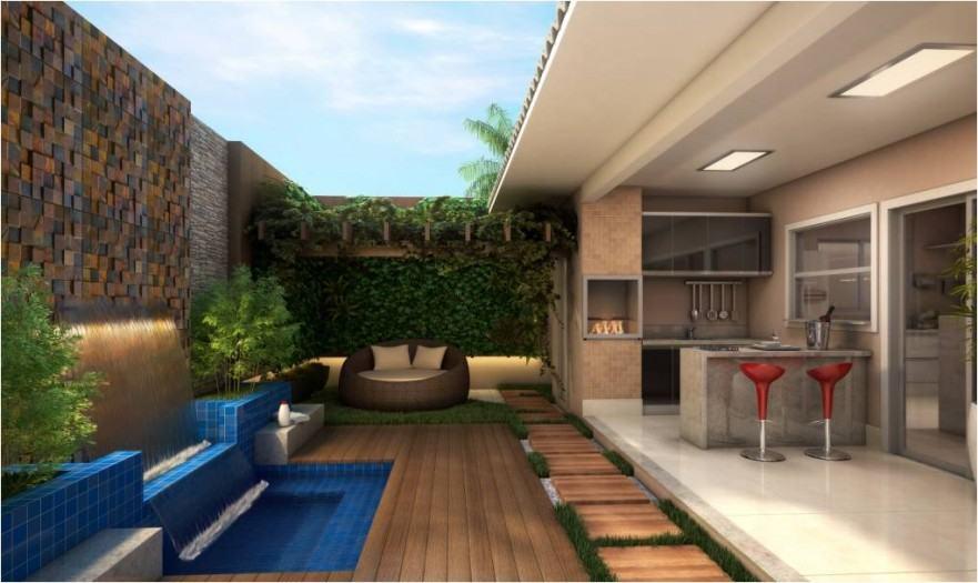 Casas com piscinas 60 modelos projetos e fotos for Piscinas modernas pequenas