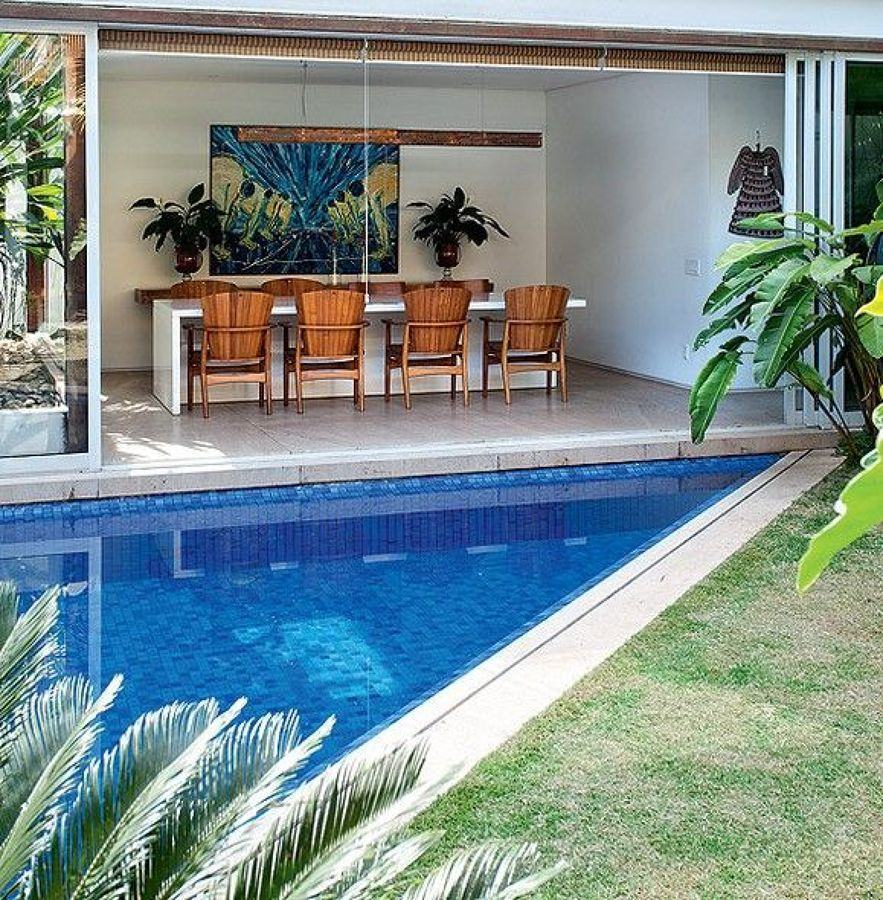 Casas com piscinas 60 modelos projetos e fotos for Piscinas para casas