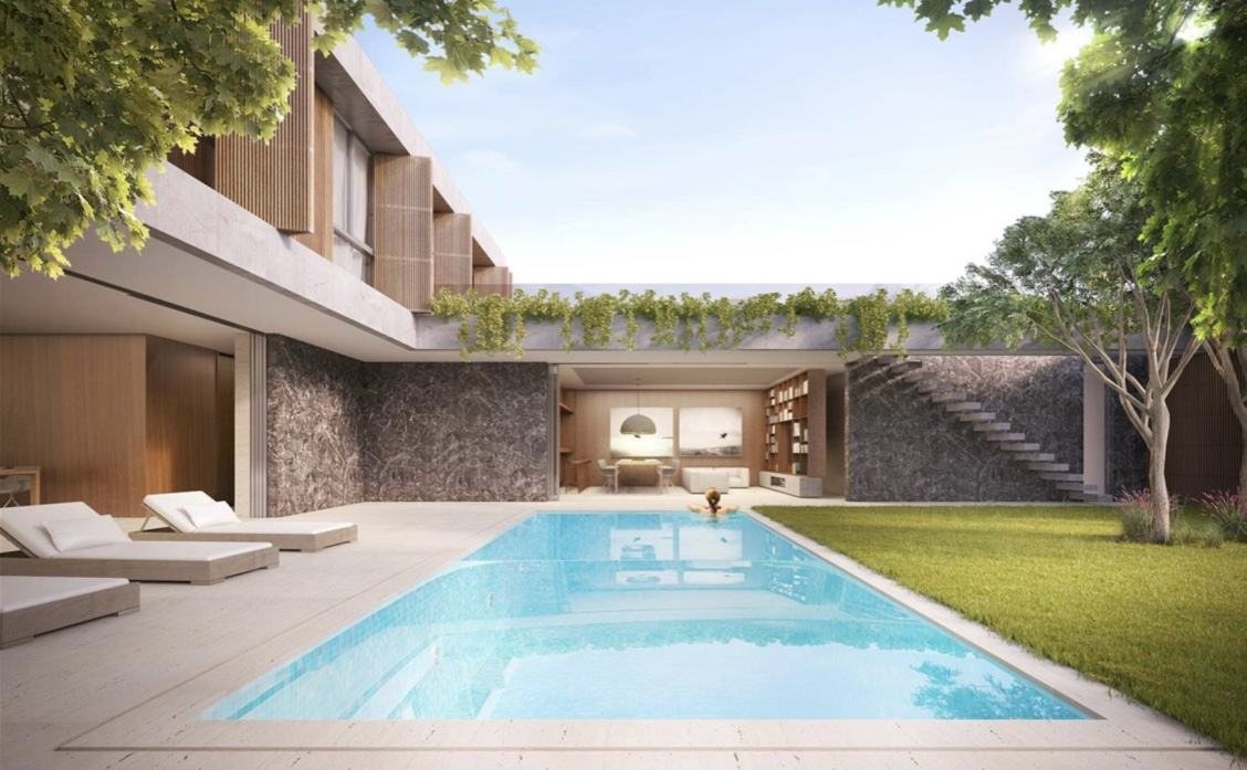 Casas com piscinas 60 modelos projetos e fotos for Casa moderna piscina