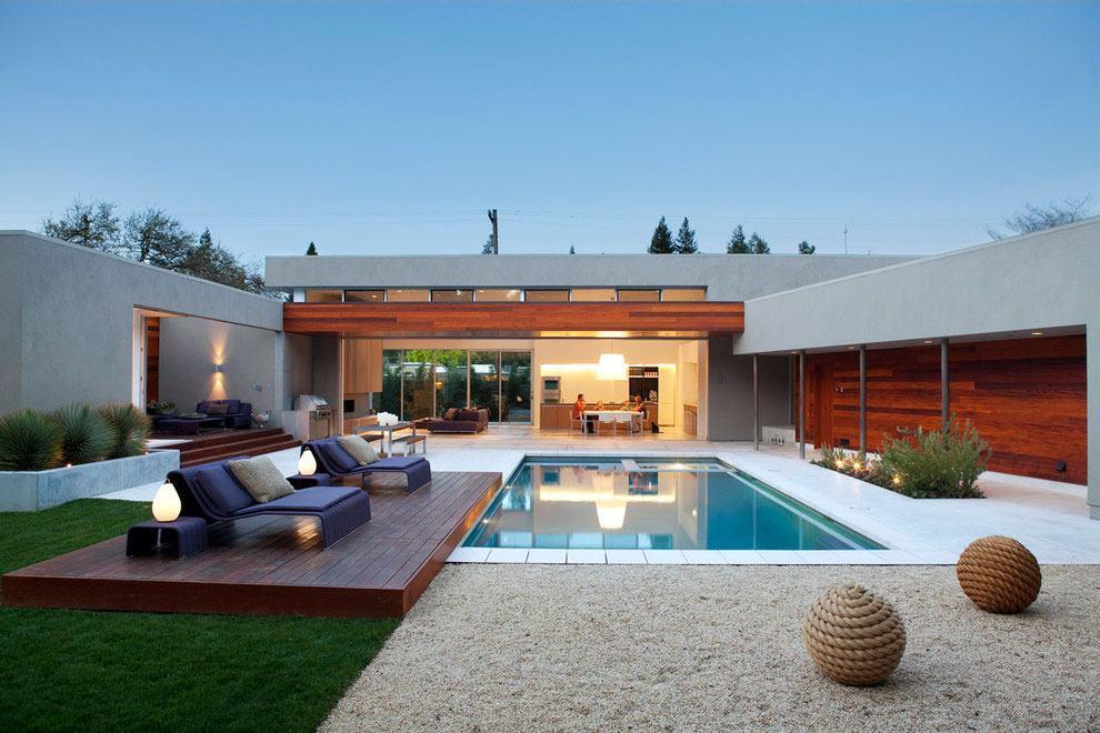 Casas com piscinas 60 modelos projetos e fotos for Fotos de modelos en piscinas