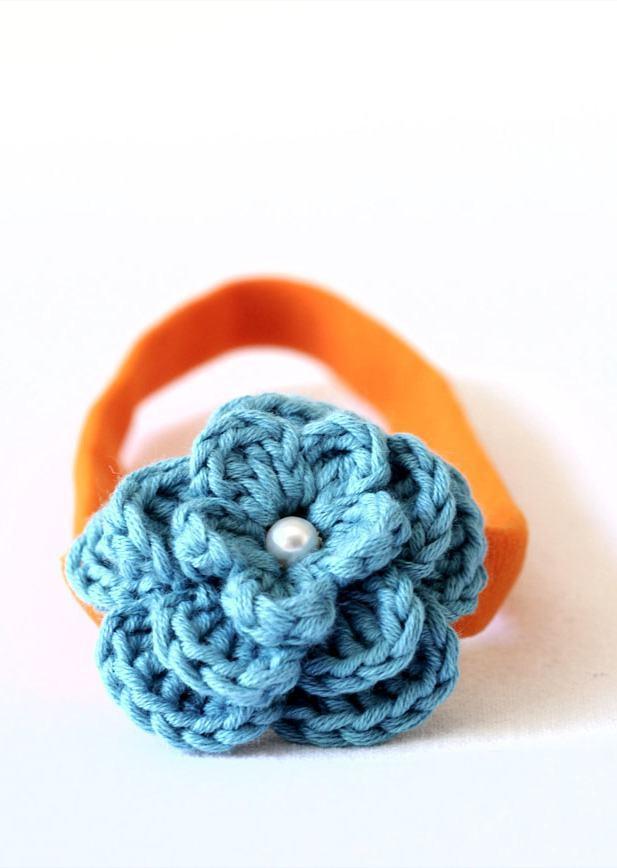 Flor de crochê enrolada