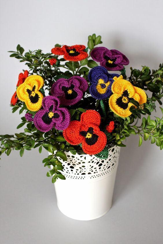 Um belo arranjo de flores