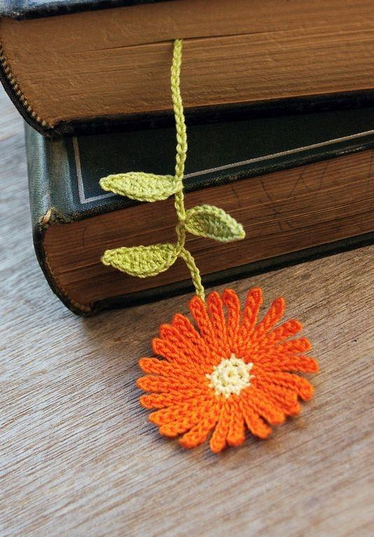 Marcador de livro em formato de Gerbera