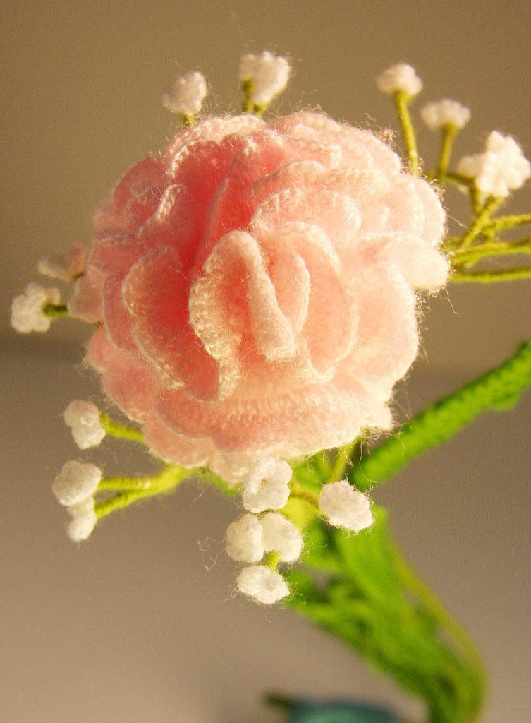 Rosa encantador em crochê