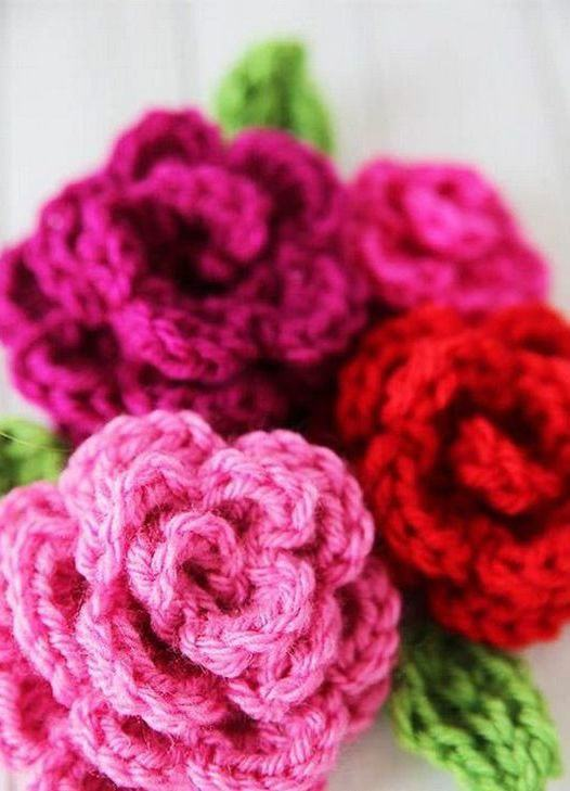Flores enroladas com barbante