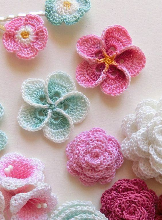 Flores pequenas multicolor