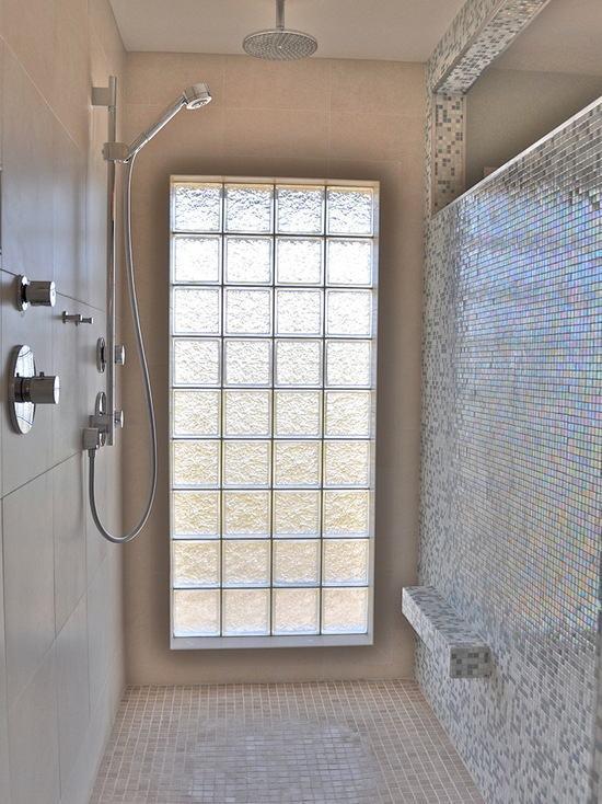 Tijolo de Vidro Modelos, Preços e 60 Fotos Inspiradoras! -> Decoracao De Banheiro Com Tijolos De Vidro