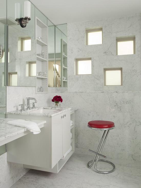Tijolo de Vidro Modelos, Preços e 60 Fotos Inspiradoras! -> Decoracao De Banheiro Com Tijolo De Vidro