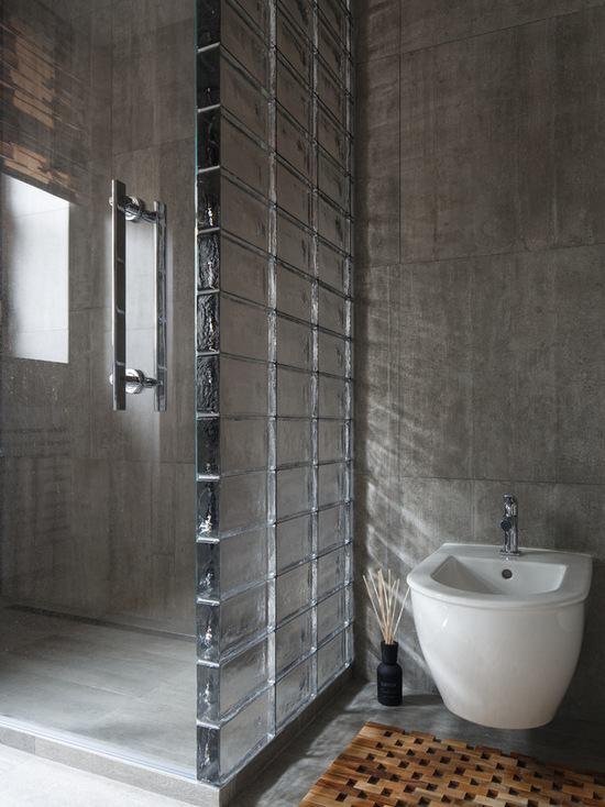 Tijolo de Vidro Modelos, Preços e 60 Fotos Inspiradoras! -> Armario De Banheiro Feito De Tijolo De Vidro