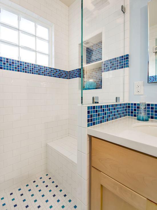 Tijolo de Vidro Modelos, Preços e 60 Fotos Inspiradoras! -> Banheiro Decorado Com Bloco De Vidro
