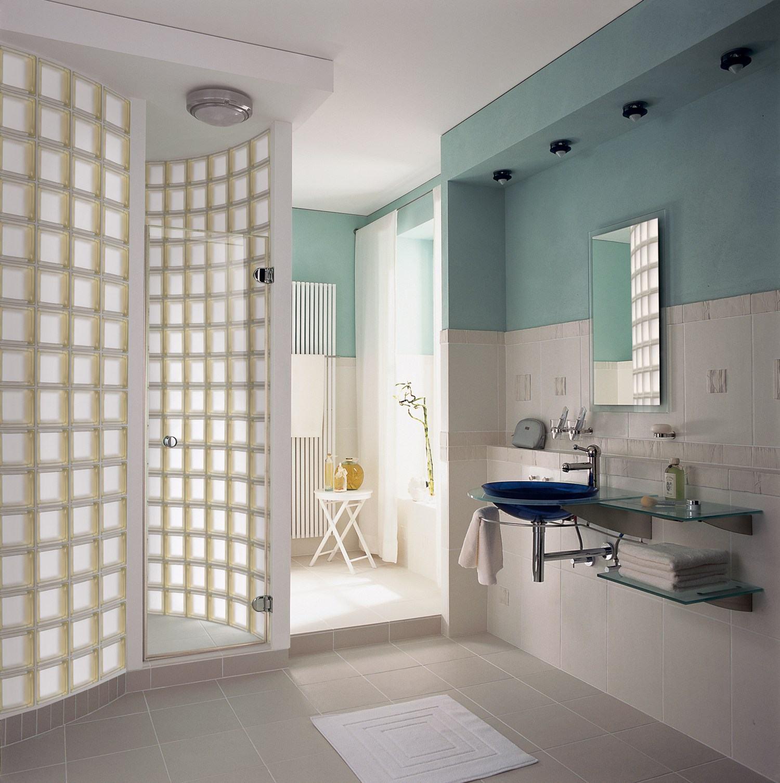 Tijolo de Vidro Modelos, Preços e 60 Fotos Inspiradora -> Armario De Banheiro Feito De Tijolo De Vidro