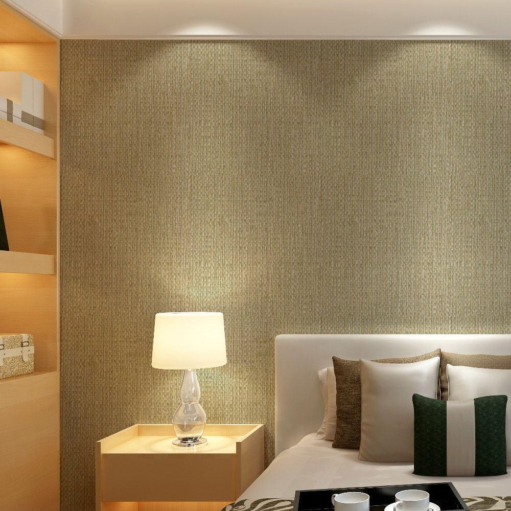 O papel de parede de linho leva conforto e aconchego para o ambiente