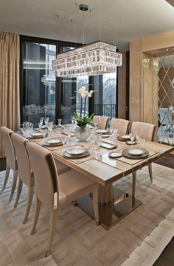 Sala de jantar moderna com visual clean