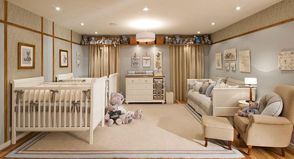 Quarto de bebê com decoração bege