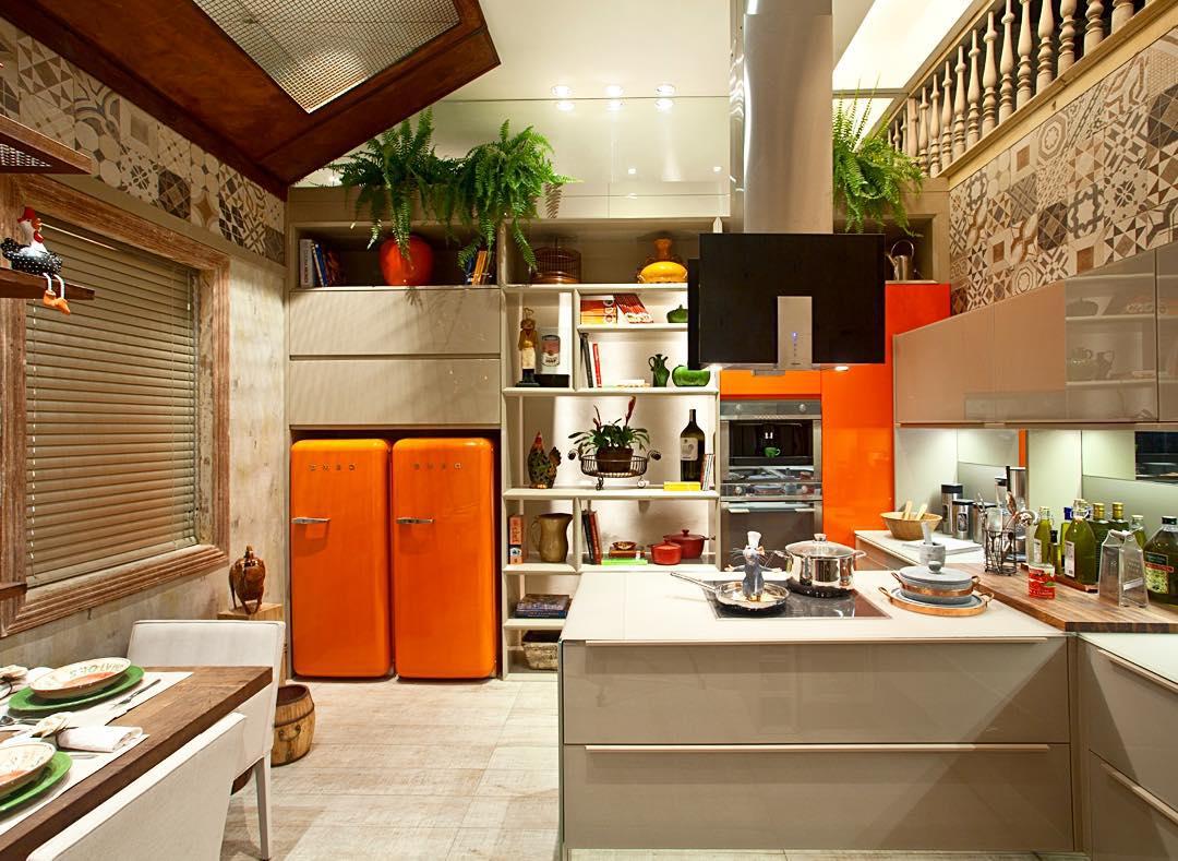 Cozinha com decoração bege