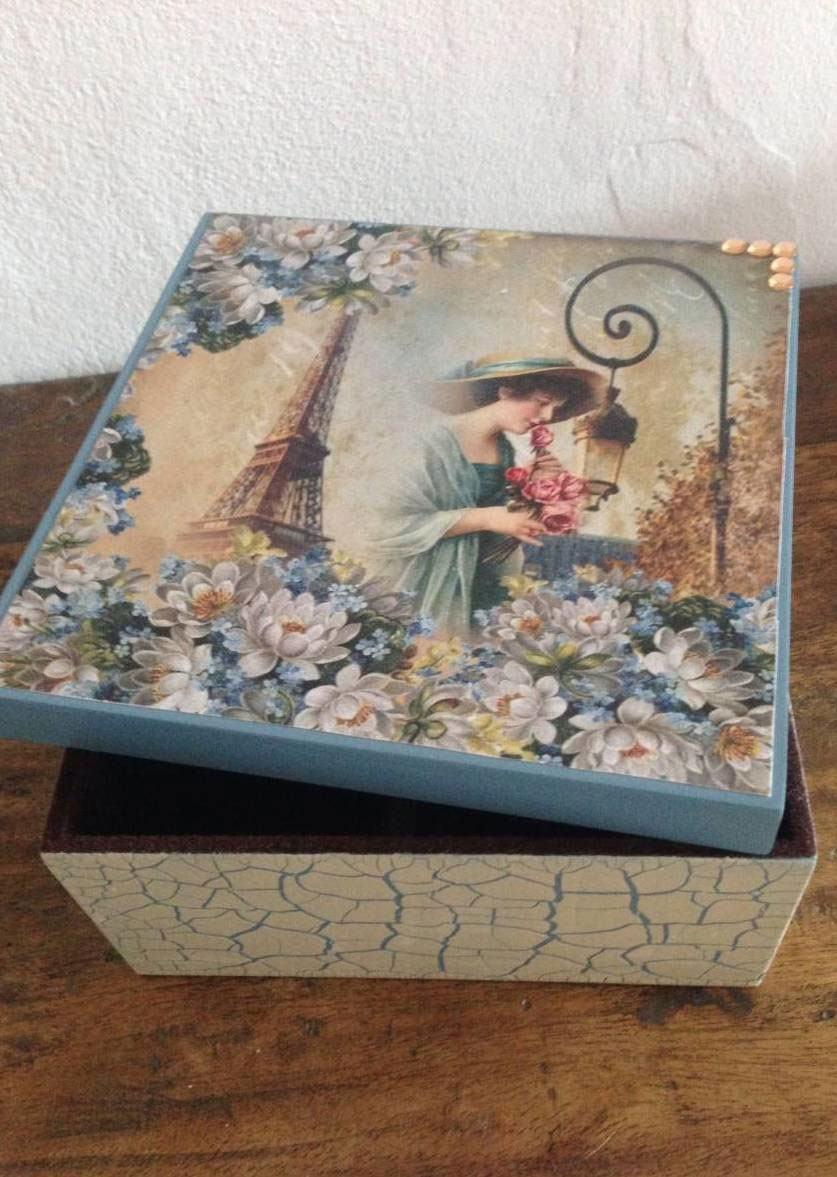 Caixas de mdf decoradas 89 modelos fotos e passo a passo for Pintura para decoupage