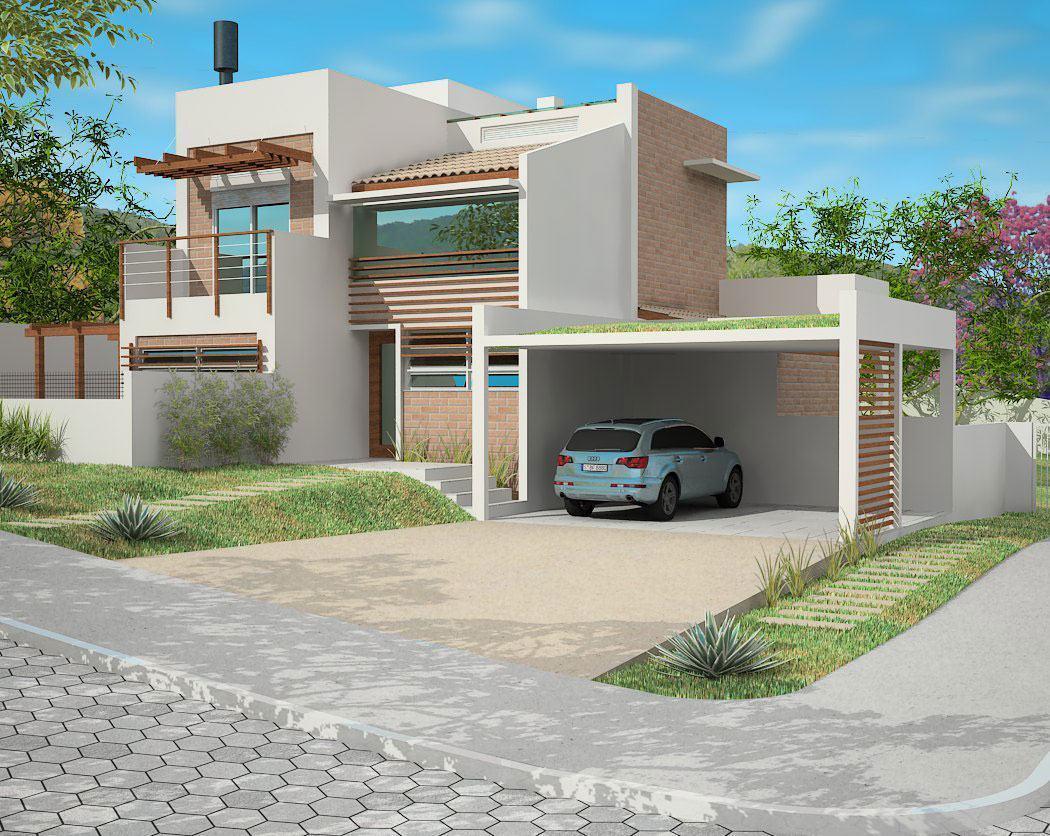 Telhado embutido 60 modelos e projetos de casas for Casa de modelos