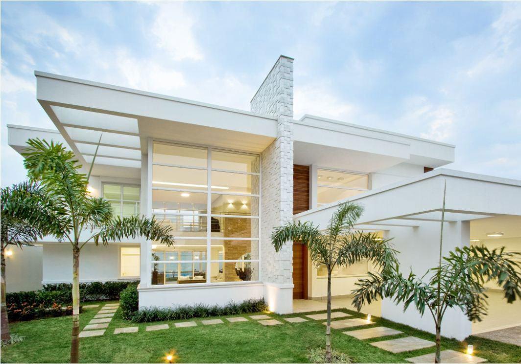 Telhado embutido: casa com cobertura vazada