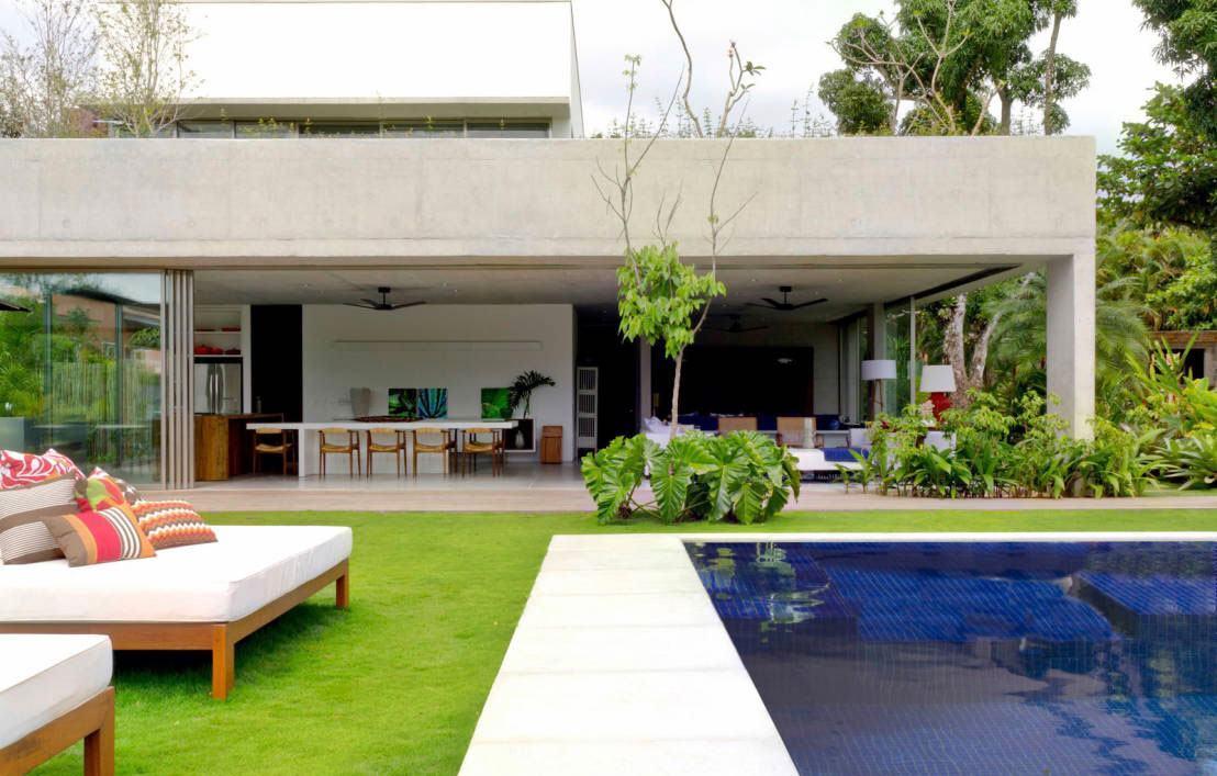Casa com detalhes em concreto