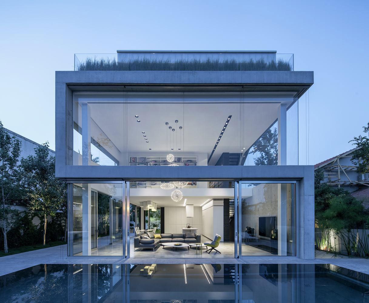Telhado embutido: casa com cobertura verde