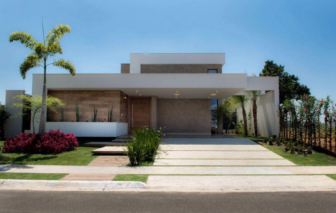Casa térrea contemporânea