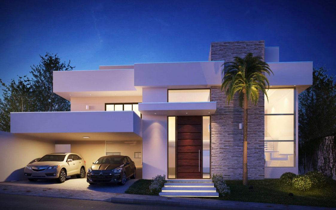 Telhado embutido 60 modelos fotos e projetos de casas for Modelos de fachadas para casas