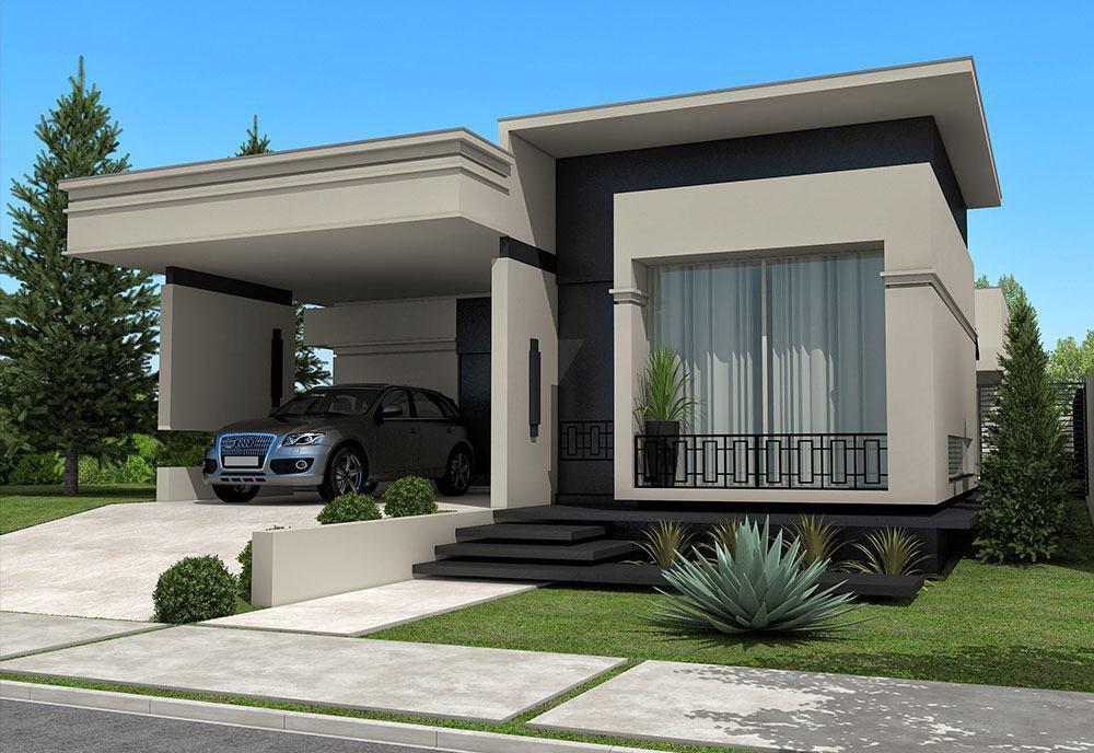 Casa térrea com cobertura plana