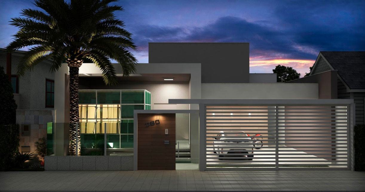 Telhado embutido 60 modelos e projetos de casas for Modelos casas modernas