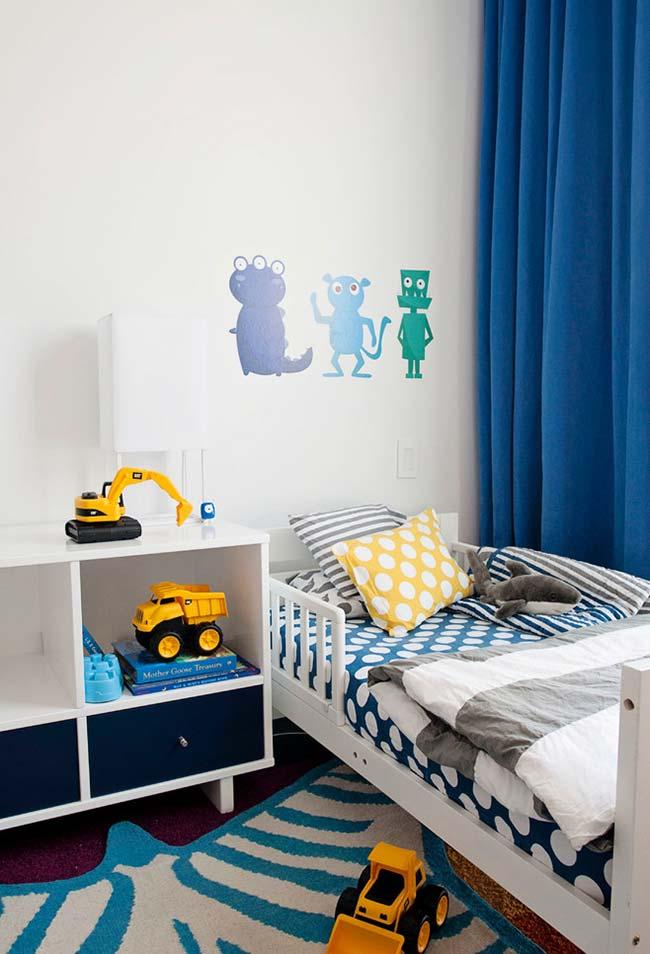 Tratores de brinquedo e personagens na ilustração de parede