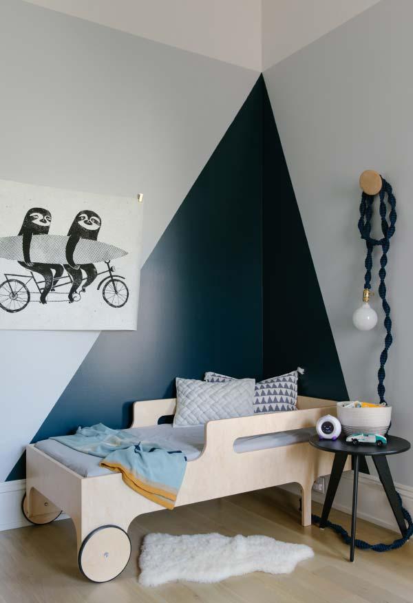 Cama diferenciada no projeto do quarto de menino
