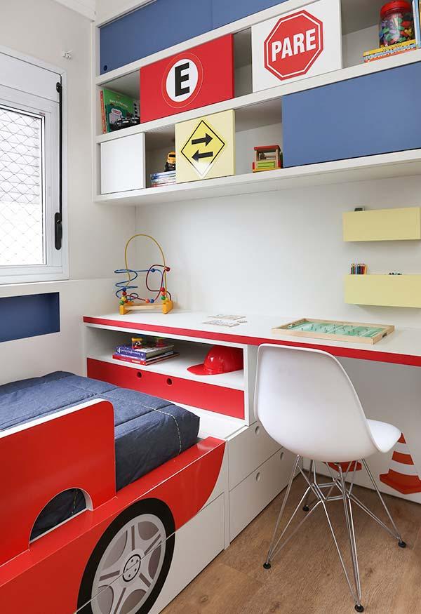 Tema trânsito para a decoração do quarto de menino