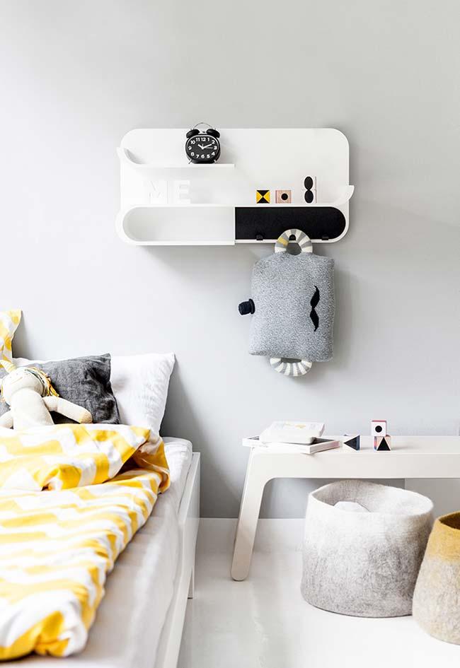 Decoração de quarto de menino minimalista