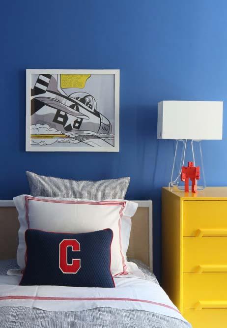 Speed racer como tema da decoração deste quarto de menino