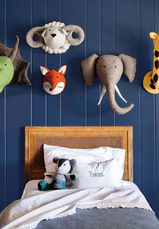 Tema animais divertidos para o quarto de menino