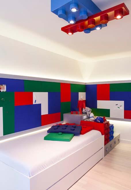 Desperte a criatividade com elementos decorativos que remetem ao brinquedo LEGO