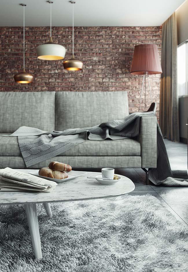 Para não ter erro, mantas da mesma cor do sofá