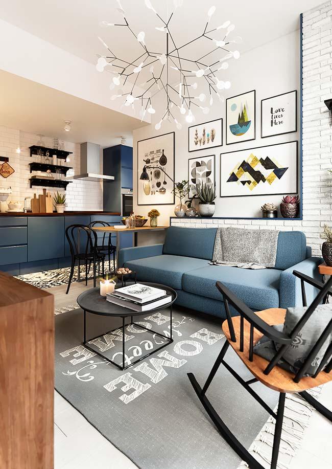 Mantas para sofá: cinza e azul são as cores da decoração moderna