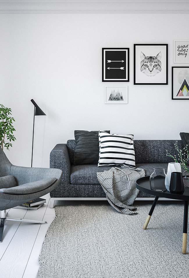 Manta para sofá estampada discreta