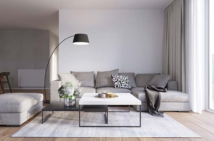 Tecido leve e fluído também pode ser usado em mantas para sofá