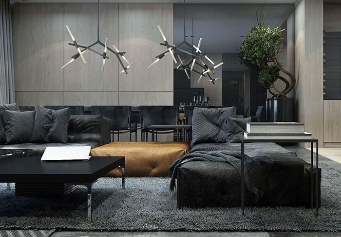 Mantas para sofá: praticamente no mesmo tom, essa manta se revela mesmo pela estampa